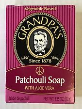 Grandpa's Since 1878  Vegetable Based Soap 3.25 oz.~ Patchouli With Aloe Vera