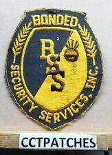 BONDED SECURITY SERVICES INC (POLICE) (NO BORDER) SHOULDER PATCH