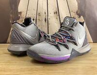 Nike Kyrie 5 GS Graffiti Atmosphere Grey Purple Size 3.5Y Boys AQ2456-001 Irving