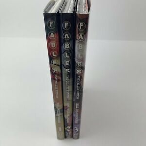 Fables Deluxe Edition Hardcover Book 1 2 3 Lot (Vol One Two Three, Willingham)