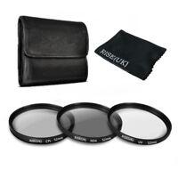52mm UV CPL ND4 Polarizing Lens Filter Kit For Canon Nikon DSLR Camera Hood
