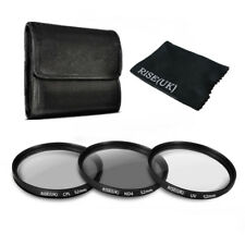 52mm UV CPL ND4 Polarizing Lens Filter Kit For Canon Nikon DSLR Camera Hood