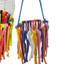 Pet Parrot Chew Rope Coil Swing Bird Cage Conure Cockatiel Perch Chewing Toys