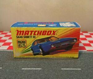 Matchbox Superfast No.65 Saab Sonett III  EMPTY Reproduction box Only NO CAR