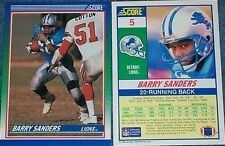 Score Rookie Original Detroit Lions Football Trading Cards