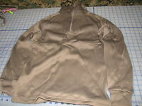 undershirt polypro brown SMALL 1/4 zip shirt GI real extreme cold weather ECW
