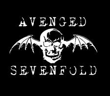 1 x Avenged Sevenfold sticker 30cm long WHITE decal heavy metal band car window