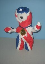 "13"" London 2012 Gold Medal Animated Dancing Wenlock Union Jack Olympic Mascot"