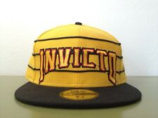 UNDEFEATED INVICTO NEW ERA YELLOW FITTED HAT 5 PANEL 59 FIFTY BASEBALL CAP 7 1/2
