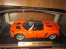 Opel Speedster diecast collectible ORANGE  1/18 special edition