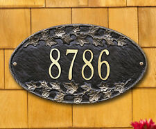 Whitehall Ivy Oval Address Marker Personalized Plaque Sign - 17 Color Choices
