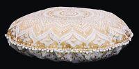 81.3cm Indien Ombre Mandala Rond Tapisserie Sol Coussin Pouf Housse Bohème