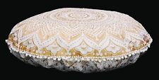 """32"""" INDIAN OMBRE MANDALA ROUND TAPESTRY FLOOR CUSHION PILLOW POUF COVER Bohemian"""