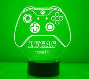 XBox Personalized LED Gaming Room XBox One Controller Night Light Lamp