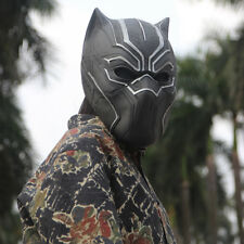 New Solid 3D Black Panther Masks Movie Fantastic Cosplay Men's Latex Party Mask