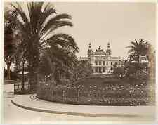 G.J. Monaco, Monte Carlo, le casino et jardins  Vintage albumen print  Tirage