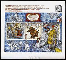 2004 VESPUCCI,Masonic,Mercator,Hondius,EUROPA Goddess,Elephant,Romania,343,MNH