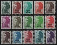 St. Pierre & Miquelon 1986 - Mi-Nr. 523-537 ** - MNH - Freimarken / Definitives