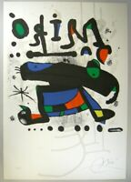 """Joan Miro Lithograph """" Composition """" Sheet Limited F/S Last One From Japan"""