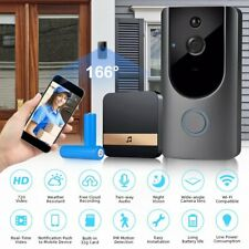 Wireless Wifi Video Doorbell Smart PIR Security Camera Door Ring Intercom Bell