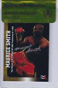 Maurice Smith Signed 2001 Epoch K-1 Grand Prix Card #99 BAS COA UFC Kickboxing