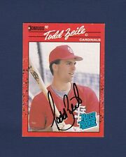 Todd Zeile signed St. Louis Cardinals 1990 Donruss Rated Rookie Card