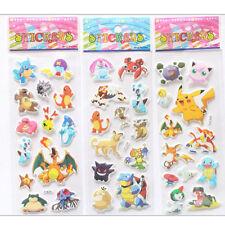 3 x Hot Pokemon Stickers Pikachu Pocket Monster Scrapbooking Sticker Sheet