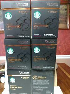 Starbucks Verismo Espresso Pods Dark Roast 6 boxes 72 K-FEE Pods. May 2021 exp.