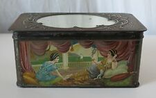 HUNTLEY & PALMERS MIRROR, 1914 ANTIQUE BISCUIT TIN, READING & LONDON