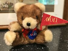 Vintage Russ AVON Bear with Banner 4 inch Tag Ground Nut Shells Item 245