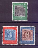 Bund 1949 - Tag der Briefmarke - MiNr. 113/115 postfrisch- Michel 100,00 € (388)