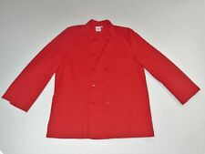 S & H Uniforms Red Chefs Long Sleeve Double Breasted Coat Jacket Large New