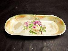 Antique FRANZ ANTON MEHLEM ROYAL BONN Germany Roses Vanity Dish Tray c 1885-1920