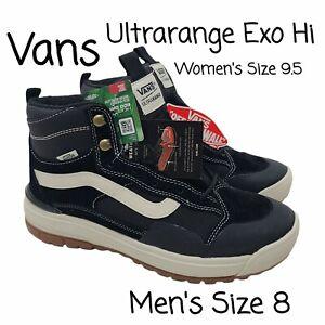 VANS UltraRange Exo Hi MTE, Mens US Size 8, Black / White | VN0A4UWJDW5 NEW