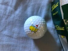 Brand New 2014 Masters Golf Balls Sleeve of 3! Play like the pros!