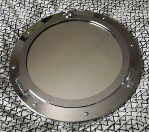 33 cm Industrial Metal Nautical Ship Style Chrome Bathroom Porthole Wall Mirror.