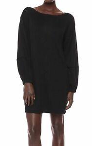 Splendid Womens Dress Black Small S Knit Long Sleeve Sweater Sheath Party $158