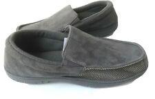 Mens Size 13-14 Slippers Moccasins HEAT KEEP GRAY MEMORY FOAM Indoor Outdoor