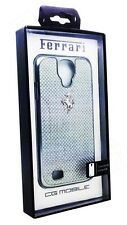 Genuine Ferrari GT Carbon Snap on Hard Case For Samsung Galaxy S4 Silver New