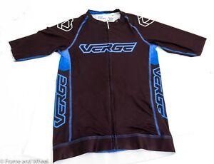 Verge Sport TOR FL Short Sleeve Cycling Jersey Men Black Blue