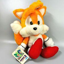 "Rare 1993 Tails SONIC2 SEGA Plush 14.5"" Sonic the Hedgehog limited Stuffed toy"