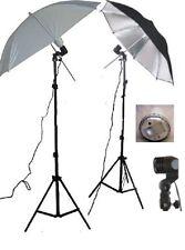 2x Trépied + 2x 45Ws Synchronisation du flash+parapluie réflecteur +
