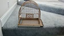 Vintage Crown Bird Cage Rusty Metal Dome Arch Top Antique Shabby Chic Decor