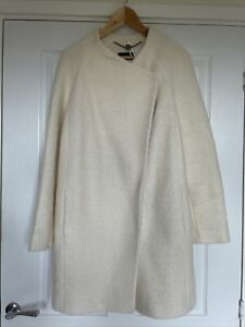 Marks And Spencer Autograph Winter White Wool Coat New Size 12