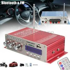 12V Mini Car Motorcycle Bluetooth FM HiFi Stereo MP3 Speaker Audio Amplifier AMP