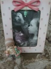 """Precious Moments Christmas Girl With Ornaments Frame 3 1/2"""" x 5"""""""