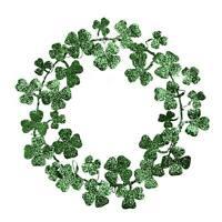 Bethany Lowe Spring Saint Patrick's Day Shamrock Wreath Clover Home Decoration