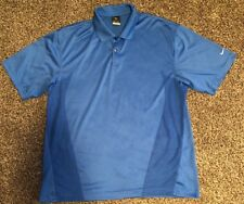 Mens Nike Golf Polo Golf Shirt Size Large Blue
