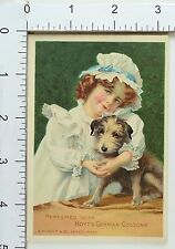 Hoyt's German Cologne Prices Back Bottle Cute Child With Adorable Puppy F72