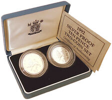 1992 UK Silver Proof 10 pence coin Twin Set Royal Mint